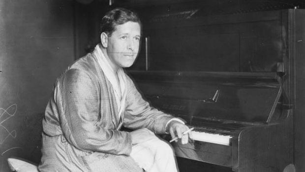 Arthur Benjamin at the piano